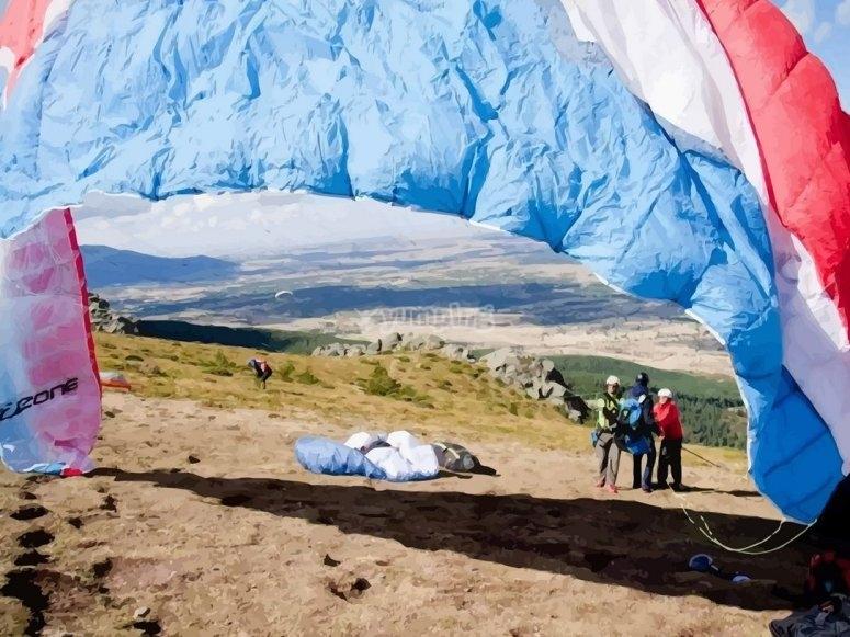 滑翔伞大会