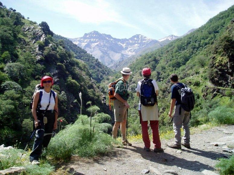 Hiking tour in grups in Vereda de La Estrella