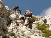 Via ferrata through to the peak