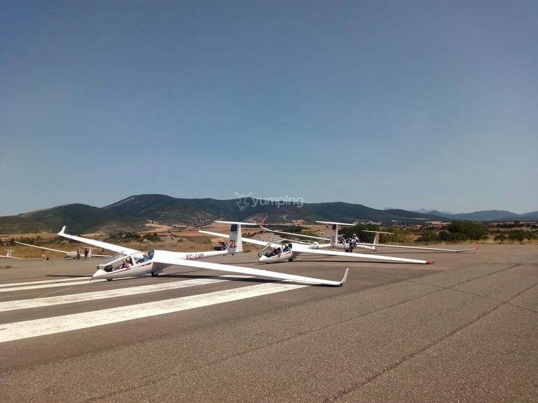 飞机准备航行
