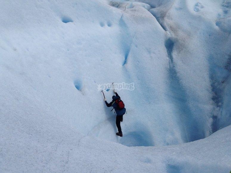 Subiendo por el hielo