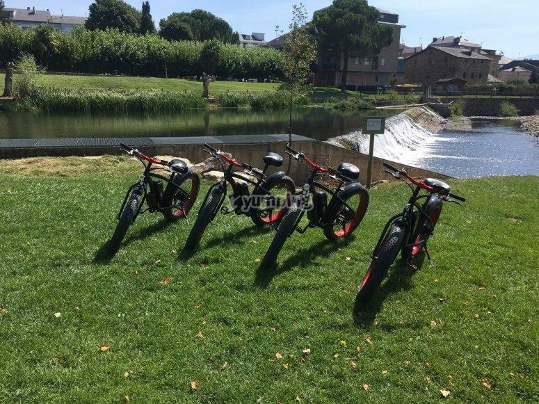 Fat bikes frente a la presa