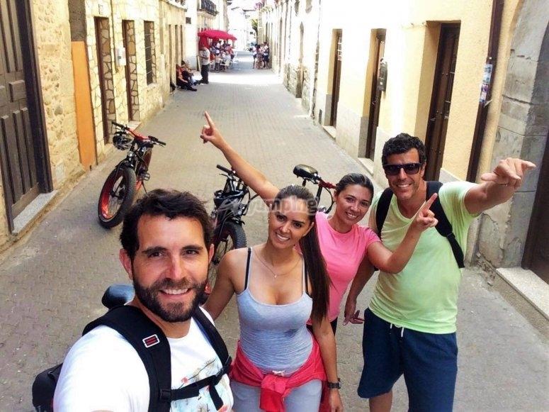 Selfie con las fat bikes