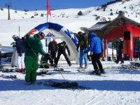Preparando el dia de esqui