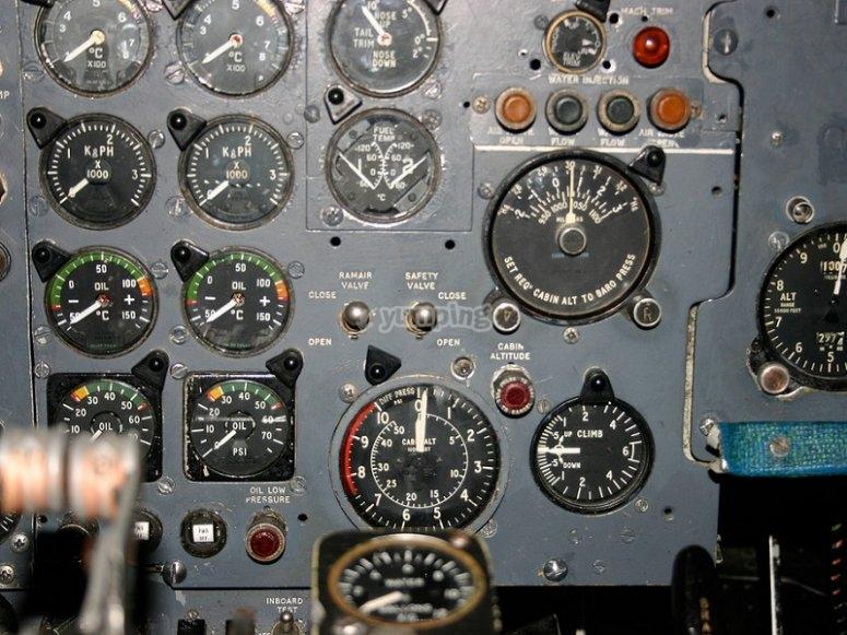 飞机控制面板