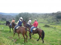 Riding a horse in Sierra Morena
