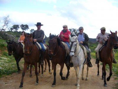 Horse trip through Sierra Morena with accomodation