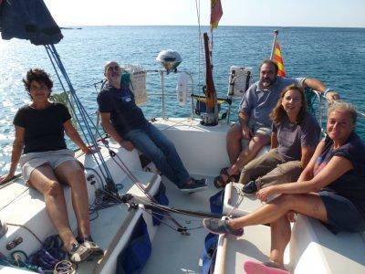 在巴达洛纳的帆船之旅