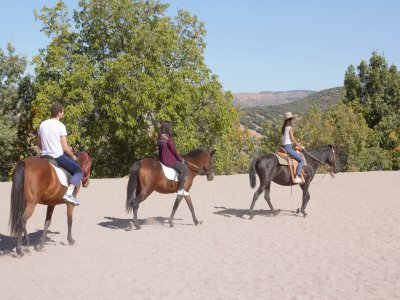 Ruta a caballo para aficionados Sierra Villafranca