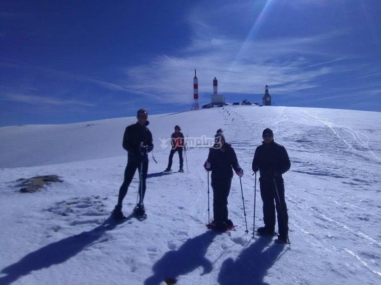 Expedicion en la nieve
