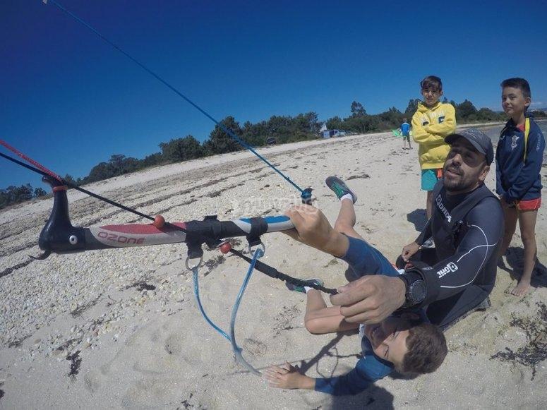 Iniziazione kitesurf