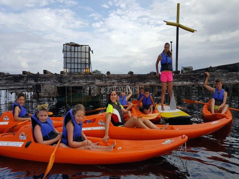 Percorso pipistrelli Kayak e paddle SUP