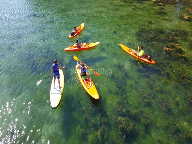 Percorsi paddle SUP e Kayak