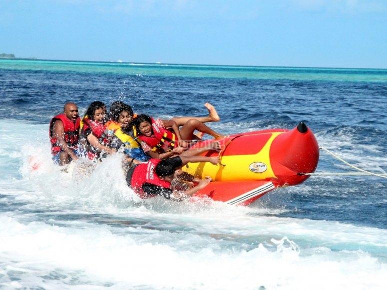 Enjoy the banana boat