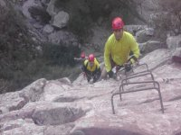 up the via ferrata