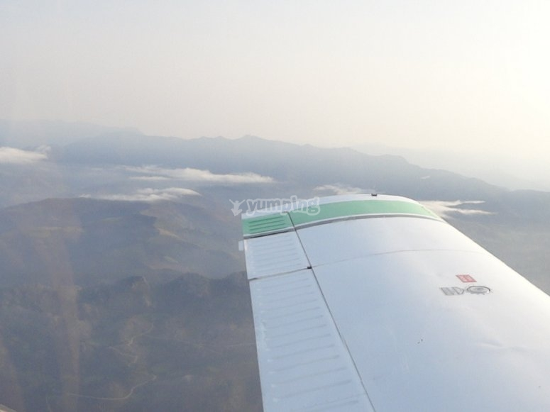 Asturias sights from the aircraft