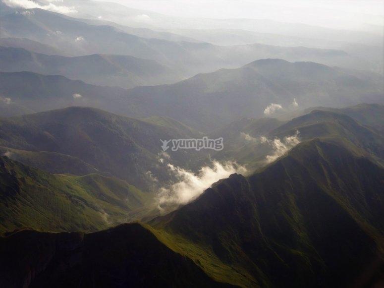 Picos de Europa from the aircraft