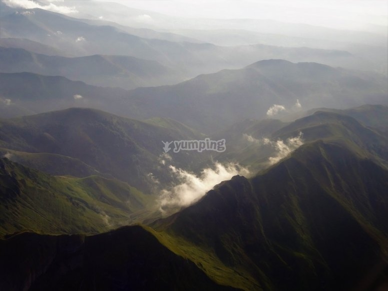 Picos de Europa desde la avioneta