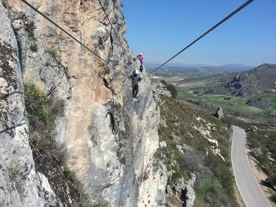 Via ferrata at Moclín, intermediate level