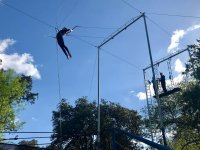 Swinging in the trapeze