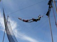 Entrenando en el trapecio