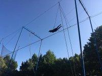 En el trapecio durante la clase