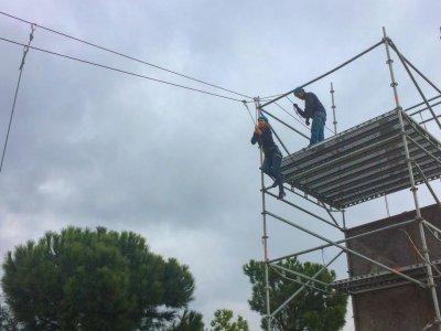 Attività di arrampicata e zip line a casa Madrid