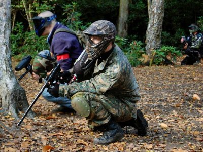 Paintball Game in Cantabria with 100 Paitballs