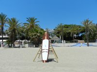 Paddle surf en playa del hotel