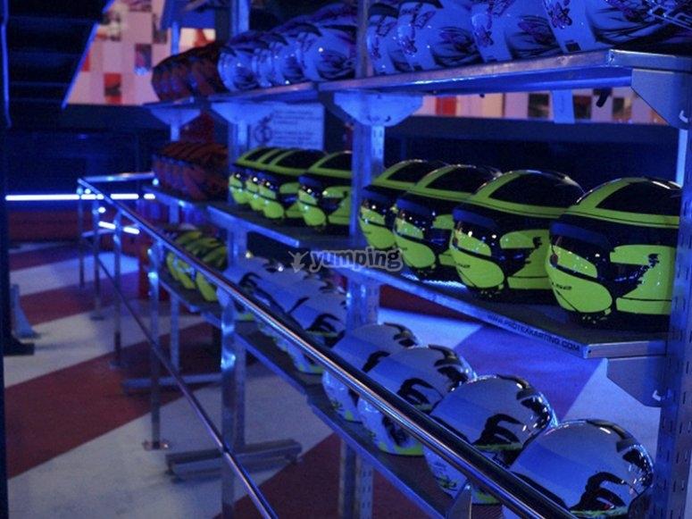 Nuestro equipamiento para la carrera de karts