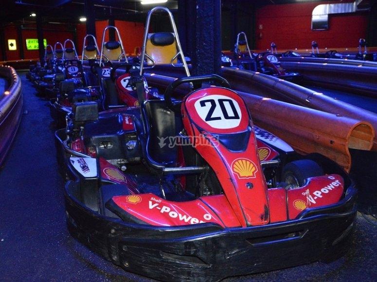 Kart en la pista cubierta de Barcelona
