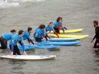 Clases de surf en el mar