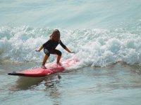 日桨冲浪冲浪的孩子也