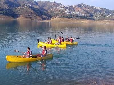 Alquiler de kayak doble en Málaga