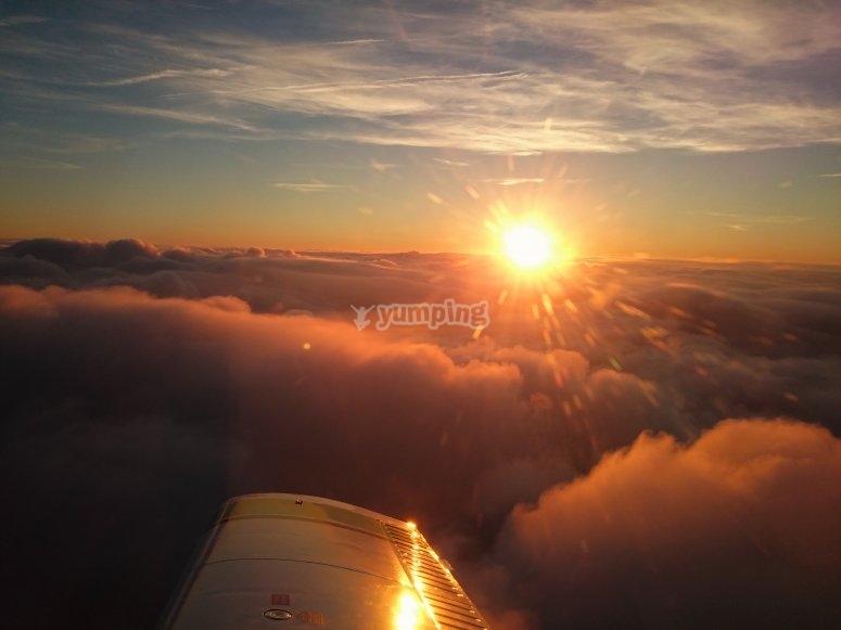 Puoi vedere bellissimi tramonti