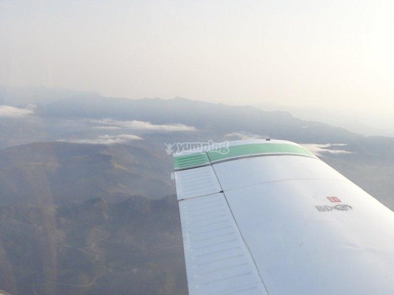 Paesaggi asturiani dall'aereo