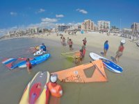 Group windsurf course