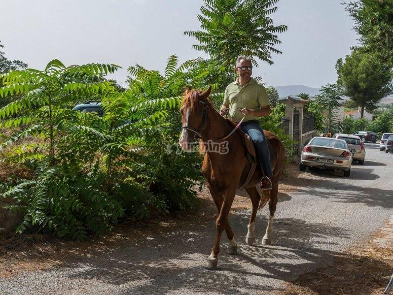 Iniciando la ruta a caballo