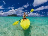 Actividad acuática de paddle surf