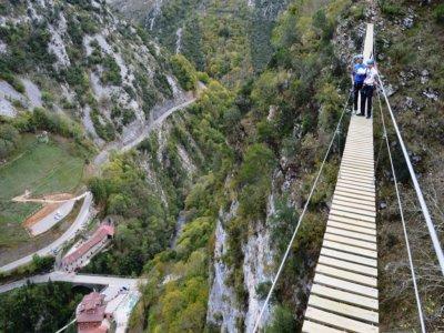 Circuito puentes tibetanos + 2 tirolinas Asturias