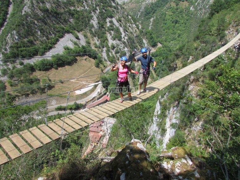 Puente Tibetano en Asturias
