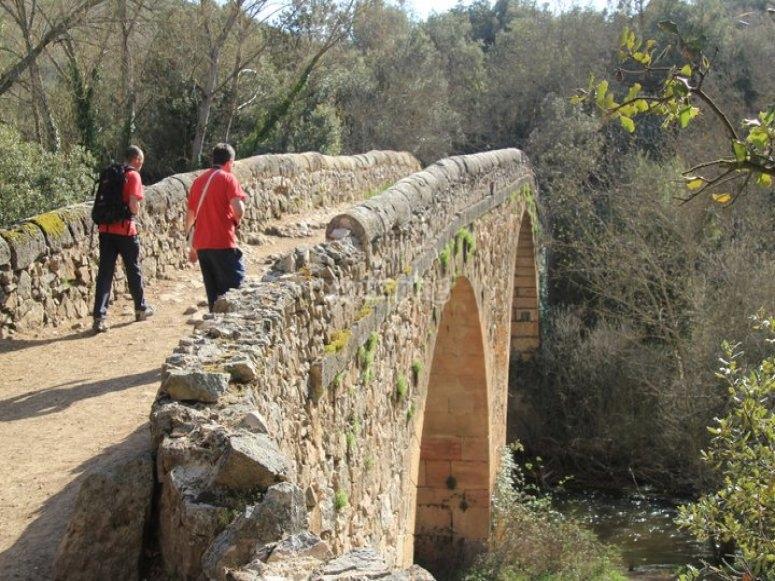 Cruzando el puente de Covatillas