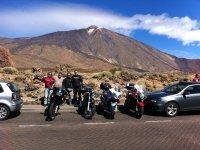 Parada frente al Teide