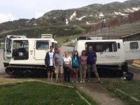 Salida en familia vehículo anfibio
