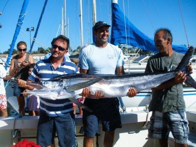 Jornada de pesca en barco en Chiclana durante 6h