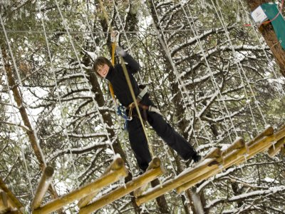 Treetop adventure park in La Molina, +7 years old