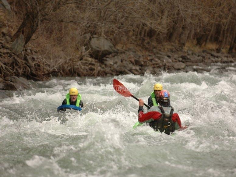Rafting nella zona Llavorsí - Gulleri