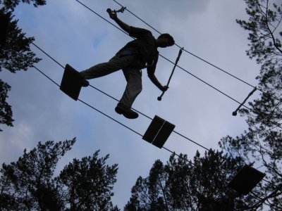Zip-Line Track in La Molina from 10 Years