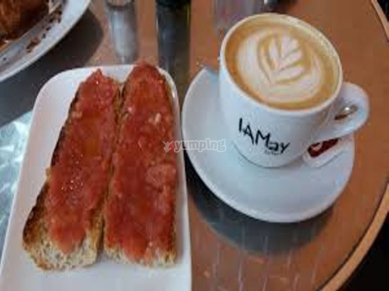 desayuno para reponer fuerzas