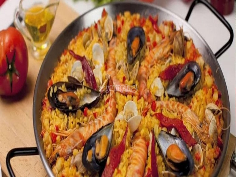 Paella in the Tiétar